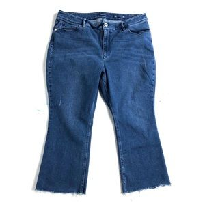 J. Jill Jeans 16 petite raw hem distressed cropped